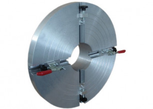 Flange adapter clamping unit